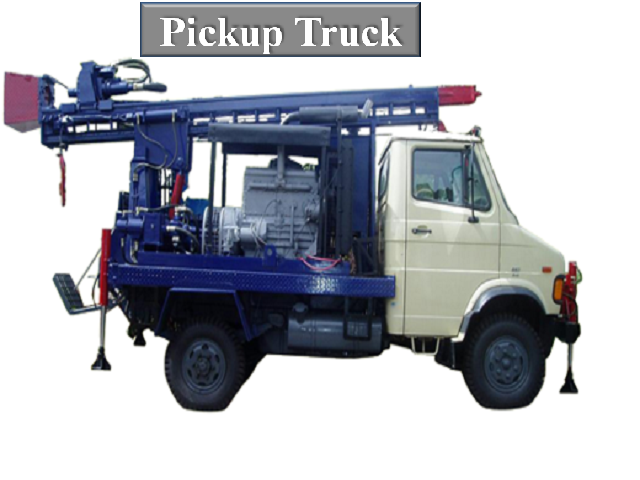 PICKUP TRUCK MOUNTED DRILLING RIG